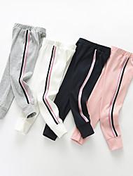cheap -Kids Girls' Basic Striped Pants Light gray