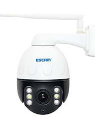 abordables -escam q5068 h.265 5mp pan / tilt / 4x cmos zoom wifi sans fil étanche caméra support ip onvif conversation à deux sens nuit vision accès à distance détection de mouvement caméra de sécurité
