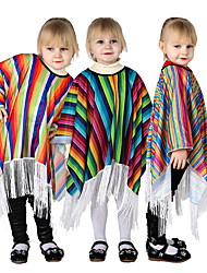 cheap -Prince Kid's Boys' Girls' Cosplay Mexico Cosplay Costume Cloak For Party Halloween Cotton Halloween Carnival Masquerade Cloak