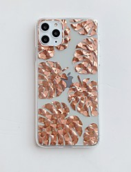 cheap -Case for Apple scene map iPhone 11 11 Pro 11 Pro Max X XS XR XS Max 8 Plated rose flower pattern inside and outside plated TPU material IMD process all-inclusive mobile phone case