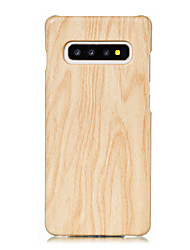 cheap -Case For Samsung Galaxy S8 Plus / S8 / S7 edge Pattern Back Cover Wood Grain PU Leather / PC