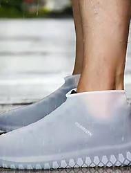 Недорогие -силиконовый чехол для обуви водонепроницаемый водонепроницаемый противоскользящие износостойкие и толстые открытый портативный чехол от дождя для мужчин и женщин