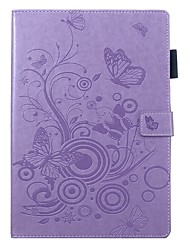 cheap -Case For Apple iPad Air / iPad 4/3/2 / iPad (2018) Wallet / Card Holder / with Stand Full Body Cases Butterfly / Solid Colored PU Leather / iPad (2017)