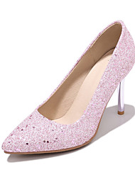 cheap -Women's Heels Stiletto Heel Pointed Toe PU Business / British Spring &  Fall Black / Gold / Pink / Wedding / Party & Evening