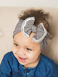 cheap -Toddler / Infant Boys' / Girls' Active / Sweet / Boho Blue & White / Black & White / Black Color Block / Patchwork / Solid Colored Bow Nylon / Lace Hair Accessories Black / Wine / White One-Size