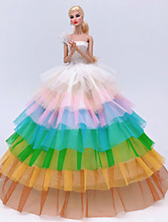 cheap -Doll accessories Doll Clothes Doll Dress Wedding Dress Party / Evening Wedding Ball Gown Tulle Lace Organza For 11.5 Inch Doll Handmade Toy for Girl's Birthday Gifts  Doll Not Included / Kids
