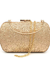 cheap -Women's Sequin / Glitter Synthetic Evening Bag Solid Color Black / Gold / Silver