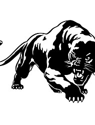 cheap -2pcs Car Styling Sticker Fiery Wild Panther Hunting Body Decal Car Stickers Motorcycle Decorations Vinyl Decals Stickers
