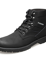 cheap -Men's Leather Shoes Leather / Cowhide Spring & Summer / Fall & Winter Business / Casual Boots Breathable Booties / Ankle Boots Black / Yellow