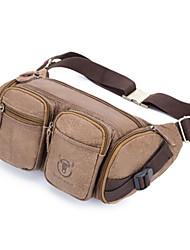 cheap -Unisex Zipper Cowhide Sling Shoulder Bag Solid Color Brown