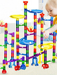 cheap -Marble Run Race Construction Marble Track Set Marble Run 38-122 pcs Plastics DIY Educational STEAM Toy Unisex Boys' Girls' Kid's Toy Gift