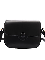 cheap -Women's Chain PU Crossbody Bag Solid Color Black / Brown / Yellow / Fall & Winter