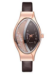 cheap -Women's Quartz Watches tiny diamond Casual Elegant Brown PU Leather Chinese Quartz Brown Casual Watch Imitation Diamond 1 pc Analog One Year Battery Life