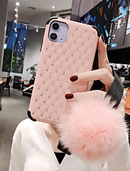 cheap -Case For Apple iPhone 11 / iPhone 11 Pro / iPhone 11 Pro Max Rhinestone Back Cover Solid Colored TPU