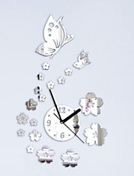 cheap -Wall Clock,Modern Contemporary Acrylic Irregular Indoor