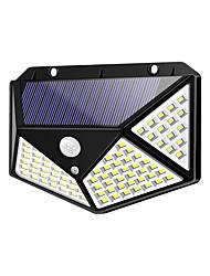 cheap -BRELONG IP65 Waterproof LED Solar Outdoor Sports Sensor Light 100 LEDs Wall Lights for Fence Yard Garden Garage Stairs