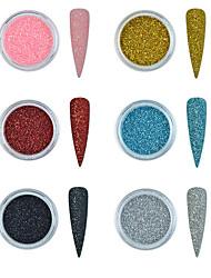 Недорогие -6 цветов голо для ногтей блеск порошок градиента для уф-гель лак для ногтей украшения сахар блеск акриловые погружения маникюр ногтей