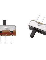 cheap -100pcs SS12D00G4 2 Position SPDT 1P2T 3 Pin PCB Panel Mini Vertical Slide Switch