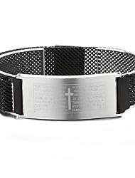 abordables -Bracelet à maillons fait main Femme Géométrique Chanceux Décontracté / Sport Bracelet Bijoux Noir Dorée Rose Dorée pour Quotidien