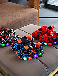 cheap -Boys' LED / Comfort / LED Shoes Flyknit Sneakers Toddler(9m-4ys) / Little Kids(4-7ys) Buckle / Braided Strap / LED Black / Wine / White Spring / Fall / Party & Evening / Striped / Rubber