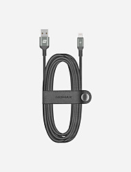 cheap -Lightning Cable 2.0m(6.5Ft) Quick Charge Aluminum / Nylon / TPE USB Cable Adapter For iPad / iPhone