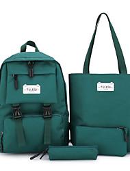 cheap -Women's Canvas Bag Set Letter 4 Pieces Purse Set Black / Blushing Pink / Green