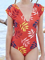 cheap -Women's Basic Black Light Blue White Halter High Waist One-piece Swimwear - Geometric S M L Black