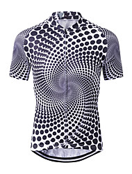 cheap -WECYCLE Men's Short Sleeve Cycling Jersey Winter 100% Polyester Black / White Polka Dot Gradient Bike Jersey Top Mountain Bike MTB Road Bike Cycling Breathable Quick Dry Sweat-wicking Sports Clothing