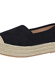 cheap -Women's Loafers & Slip-Ons Flat Heel Round Toe Suede / Cotton Vintage / Casual Spring &  Fall / Spring & Summer Black / Brown / Yellow