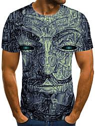 baratos -Homens Camiseta 3D / Arco-Íris Azul Marinha