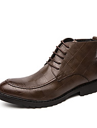 cheap -Men's Fashion Boots PU Spring / Fall & Winter Casual / British Boots Booties / Ankle Boots Black / Brown
