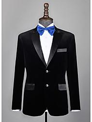 cheap -Black velvet custom tuxedo