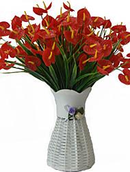 Недорогие -искусственный цветок 1 букет антуриум цветочный стол в помещении украшение стола