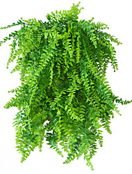 cheap -5 Forks Simulation Green Plant Persian Leaf Rattan Wall Hanging Home decoration