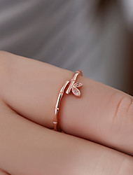cheap -Women's Ring Open Ring Adjustable Ring Rose Gold White Copper Gift Daily Jewelry