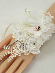 cheap -Wedding Flowers Wrist Corsages Wedding Party / Birthday Party Lace / Organza / Metal 0-20cm