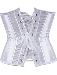 cheap -Plus Size POLY Corset Sexy Solid Colored Party Evening Bandage Underbust Corset