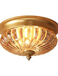 cheap -Lightinthebox 2-Light Flush Mount Lights Ambient Light Brass Copper Glass New Design 220-240V