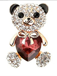 cheap -Women's Cubic Zirconia Brooches Classic Bear Classic Basic Brooch Jewelry Purple Blue For Party Graduation Gift Daily Festival