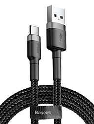 cheap -Baseus cafule Cable USB For Type-C 2A 2M RedRed