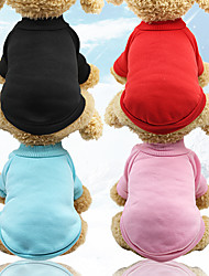 cheap -Dog Cat Sweater Sweatshirt Jumpsuit Ordinary Winter Dog Clothes Black Red Blue Costume Polyester Velour Mixed Material XS S M L XL XXL