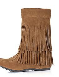 cheap -Women's Boots Hidden Heel Round Toe PU Booties / Ankle Boots Fall & Winter Black / Yellow / Gray
