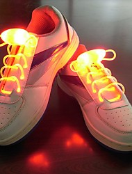 cheap -LED Shoelaces 1 Piece Luminous Plastic for Running / Cycling / Bike / Jogging White / Red / Blue Button Battery Powered