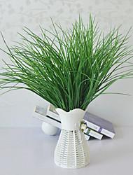 cheap -Simulation Spring Grass High-end Fake Flower Water Grass V-shaped Grass Green Planting Flower Arrangement With Grass
