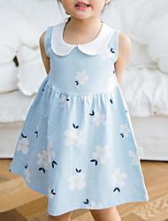 Недорогие -Дети (1-4 лет) Девочки Контрастных цветов Платье Розовый