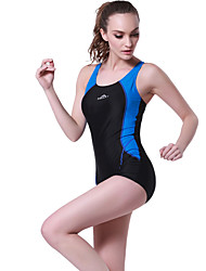 cheap -Women's One Piece Swimsuit Elastane Bodysuit Breathable Boyleg Padded - Swimming Patchwork