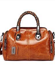 cheap -Women's Zipper PU Top Handle Bag Black / Brown / Gray Green