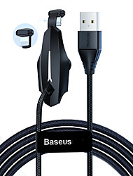 cheap -Baseus Colorful Sucker RPG Data Cable USB for Type-C 2A 2m Black