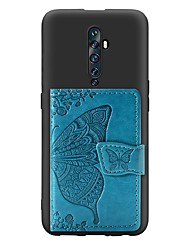 cheap -Case For OPPO F11 Pro / OPPO Reno 10X / OPPO Reno2 Z  Card Holder / with Stand / Ultra-thin Back Cover Butterfly PU Leather / TPU Case For OPPO Reno / OPPO Realme X