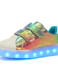 cheap -Boys' / Girls' LED / LED Shoes / USB Charging Synthetics Sneakers Little Kids(4-7ys) / Big Kids(7years +) Luminous White / Black / Purple Fall / Winter